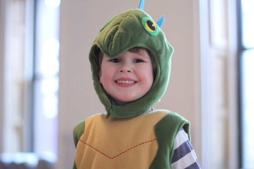 4-6 year old boy in animal fairytale costume for fun theatre class