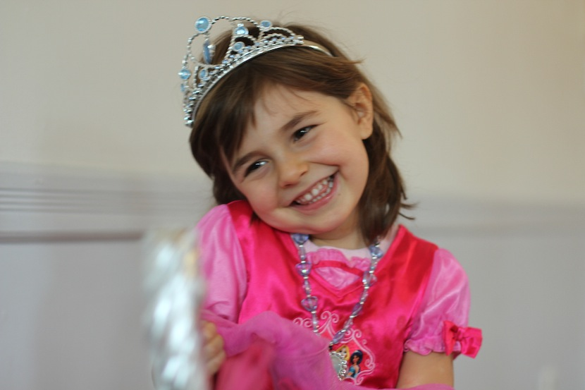 4-6 year old in princess fairytale dress up for fun theatre class