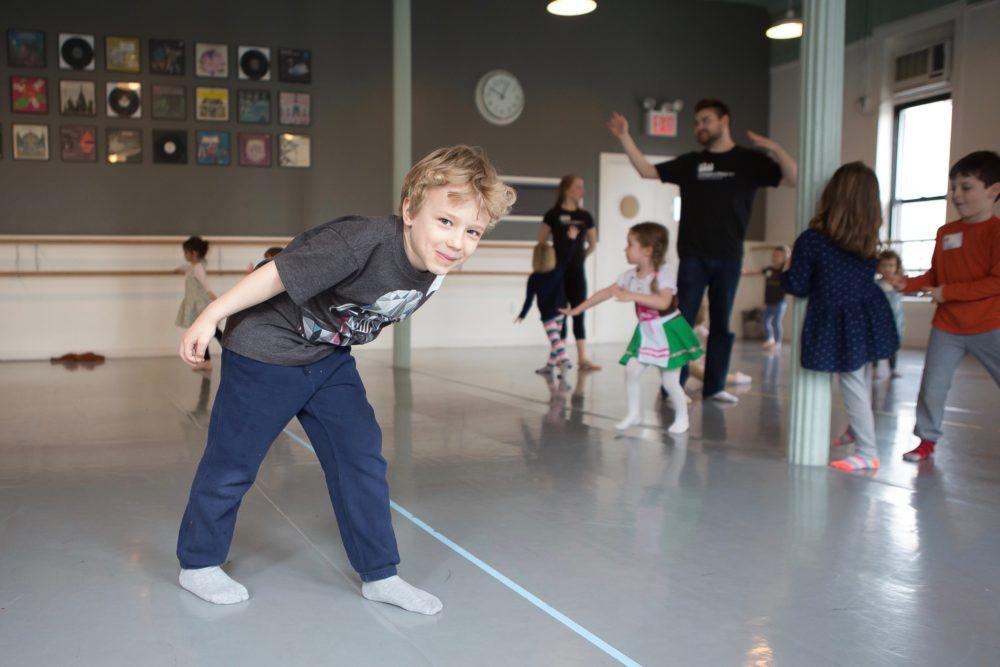 boy dancing in theater class