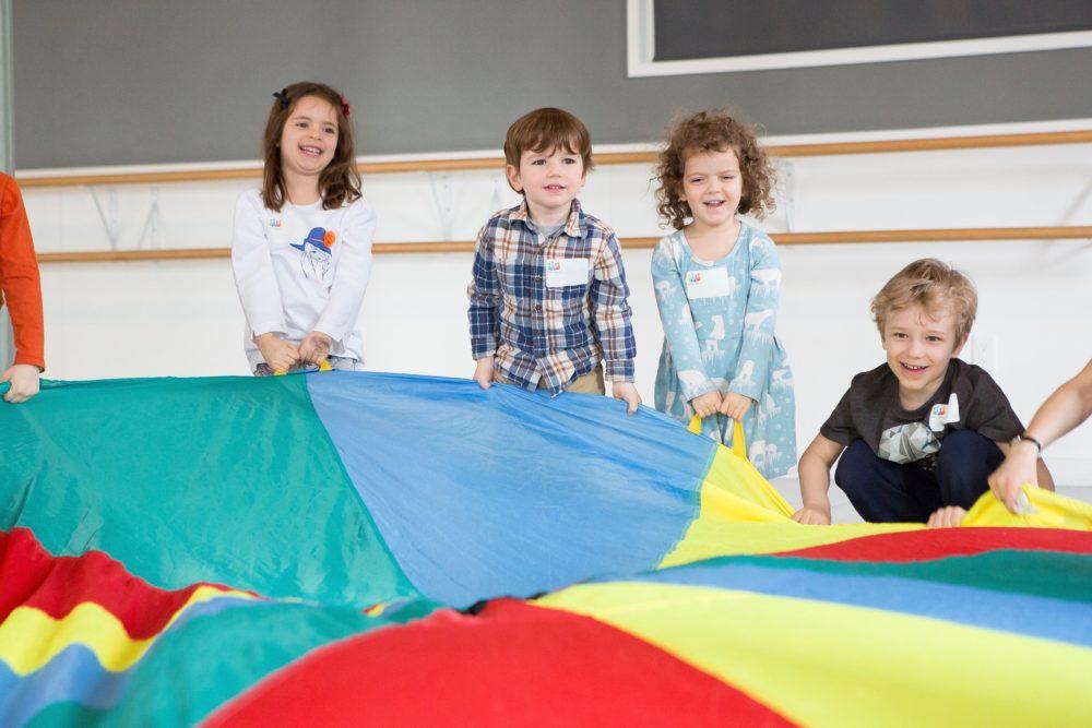 prek kids playing at acting camp
