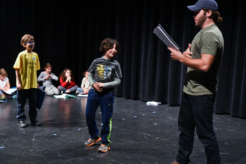 teaching artist acting with 2 students