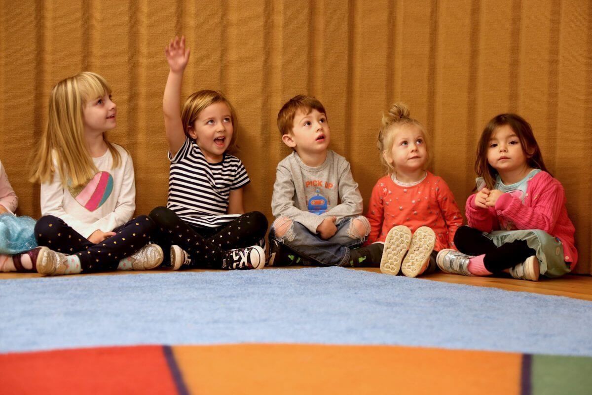 PreK students in theater class