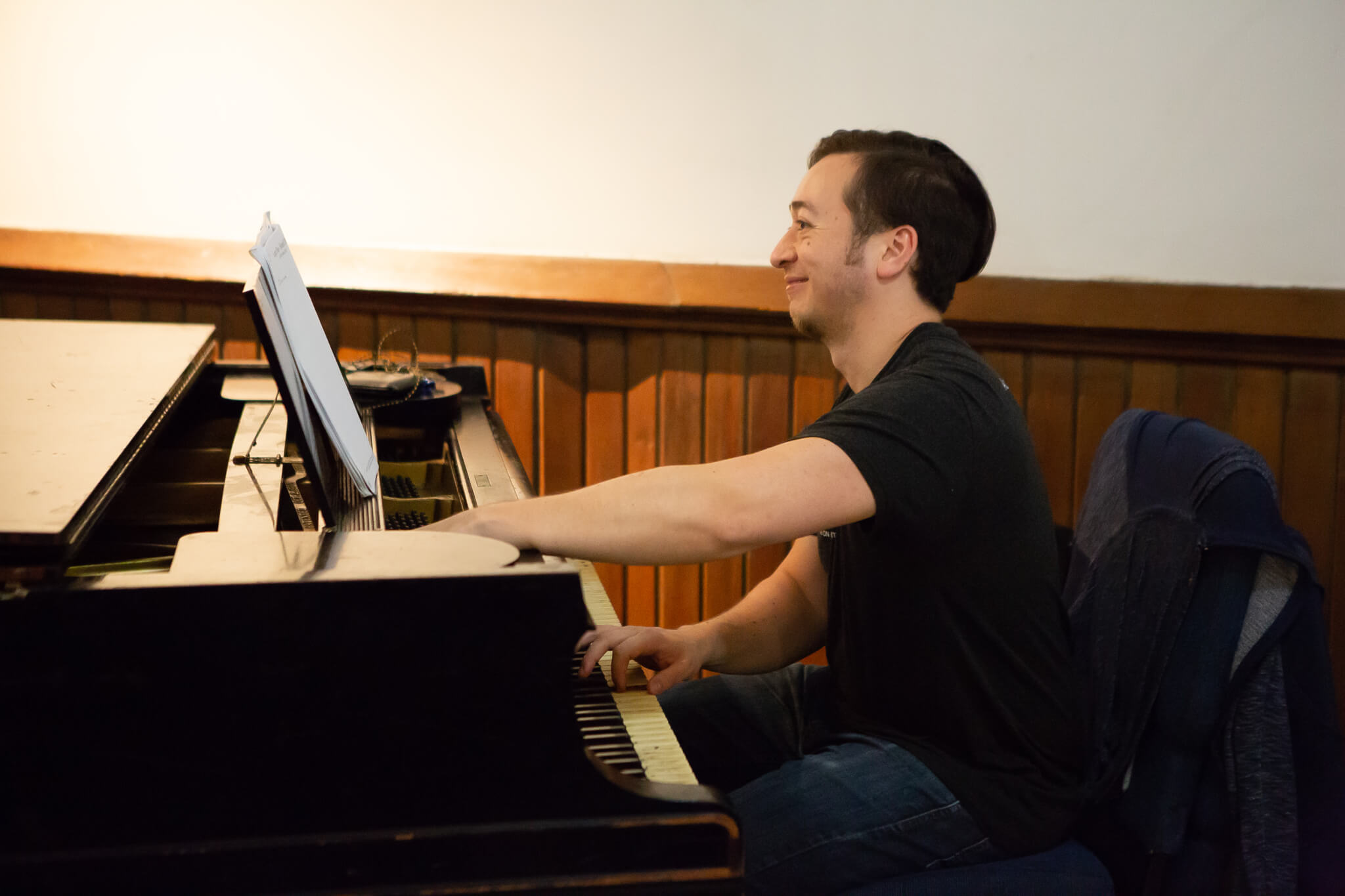 Music Director Mike Hunter at Piano