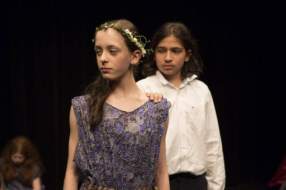 children acting in greek plays