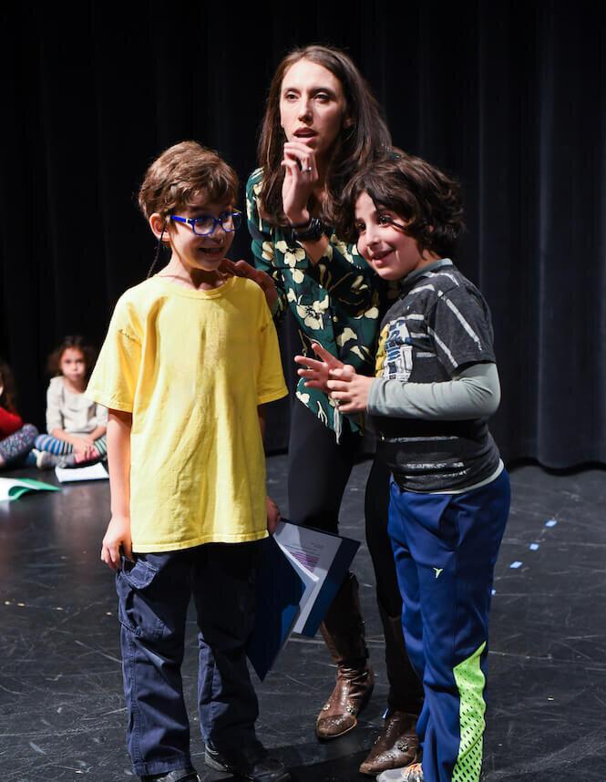 Two Kids Improvising Scene